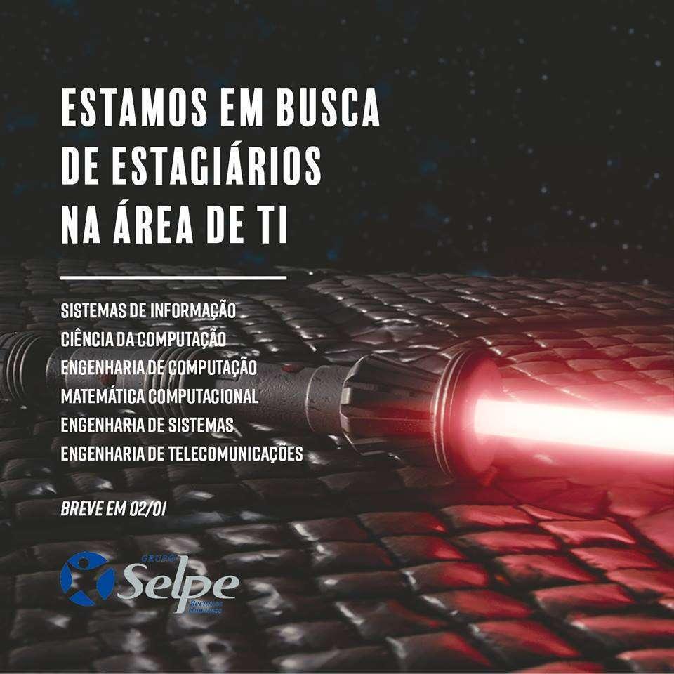 Grupo Selpe recruta estagiários da área de TI