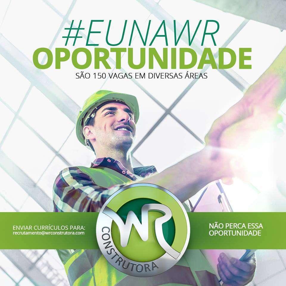 WR Construtora contrata 150 profissionais em MG