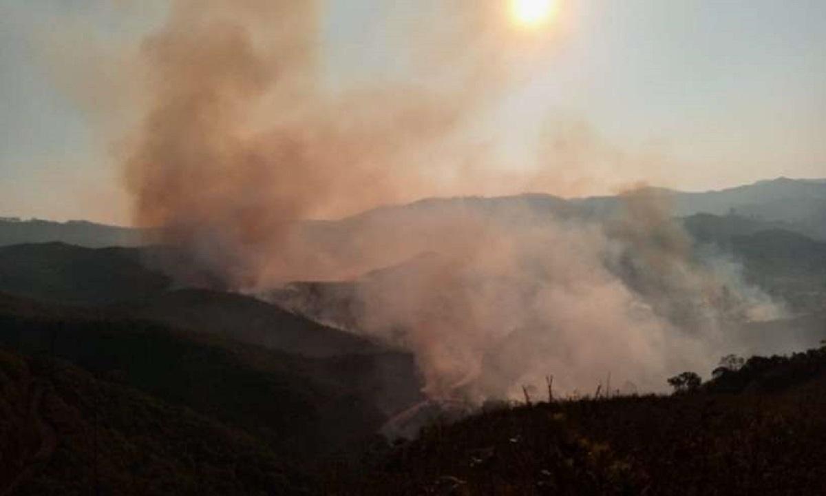 Parque do Itacolomi sofre segundo incêndio em menos de um mês
