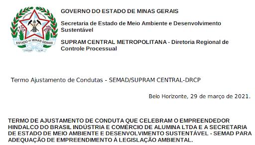 Hindalco descumpre medidas ambientais em Ouro Preto