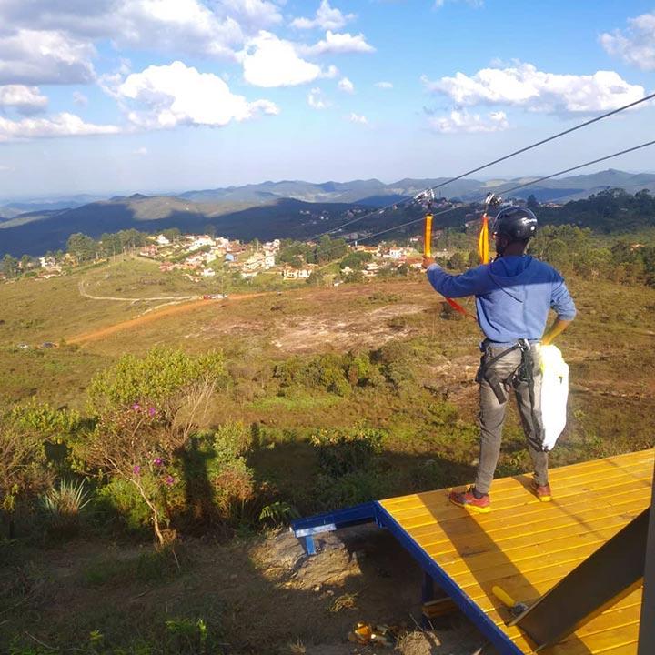 Você sabia? Lavras Novas tem a tirolesa mais alta do Brasil
